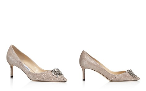 Jimmy Choo Women's Joan 60 Glitter Mesh & Leather Pointed Toe Mid Heel Pumps - Bloomingdale's_2