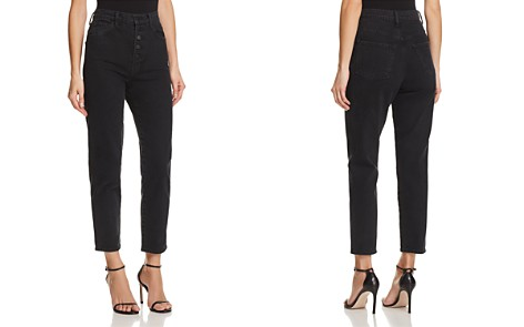 J Brand Heather Button-Fly Straight Jeans in Overthrow - Bloomingdale's_2