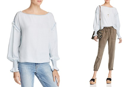 DL1961 York St Chambray Boatneck Top - Bloomingdale's_2