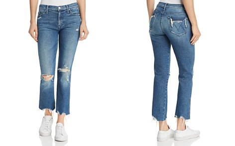MOTHER Rascal Ankle Distressed Straight-Leg Jeans in Learning To Hula - Bloomingdale's_2