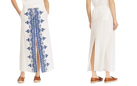 Lauren Ralph Lauren Embroidered Drawstring Maxi Skirt - Bloomingdale's_2