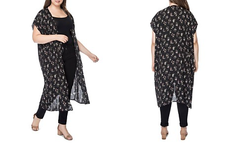 B Collection by Bobeau Curvy Brianna Floral Duster Kimono - 100% Exclusive - Bloomingdale's_2