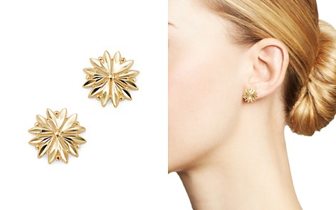 Bloomingdale's Diamond-Cut Flower Stud Earrings in 14K Yellow Gold - 100% Exclusive _2