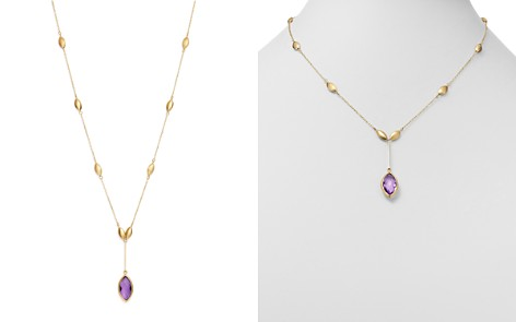 """Bloomingdale's Amethyst Marquis Y Necklace in 14K Yellow Gold, 18"""" - 100% Exclusive _2"""