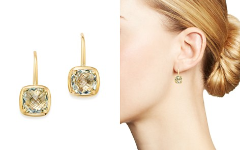 Bloomingdale's Green Amethyst Square Drop Earrings in 14K Yellow Gold - 100% Exclusive _2