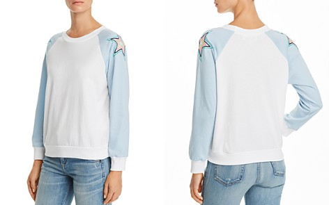 WILDFOX Starbright Embroidered Sweatshirt - Bloomingdale's_2