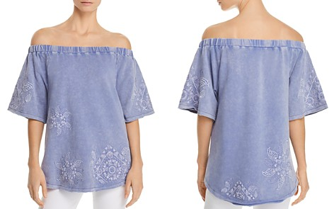 Billy T Embroidered Off-the-Shoulder Top - Bloomingdale's_2