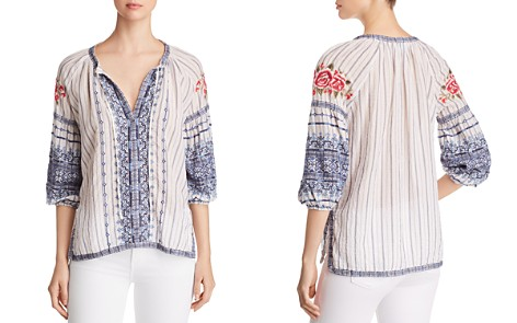 Johnny Was Shea Embroidered Peasant Blouse - Bloomingdale's_2
