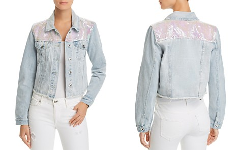 Sunset + Spring Sequined Denim Jacket - 100% Exclusive - Bloomingdale's_2