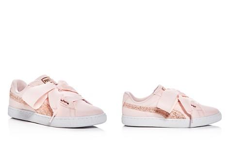PUMA Women's Basket Heart Canvas & Glitter Lace Up Sneakers - Bloomingdale's_2