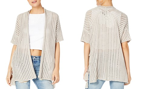 Michael Stars Short-Sleeve Open-Knit Cardigan - Bloomingdale's_2