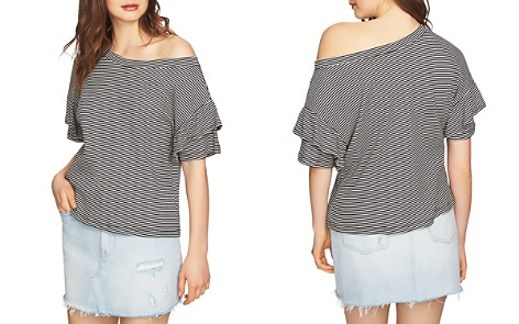 1.STATE Slipped-Shoulder Striped Top - Bloomingdale's_2