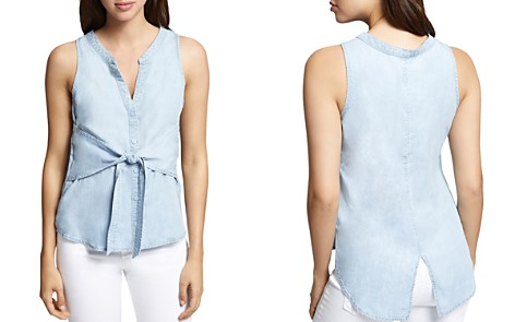 Sanctuary Cara Tie-Front Sleeveless Shirt - 100% Exclusive - Bloomingdale's_2