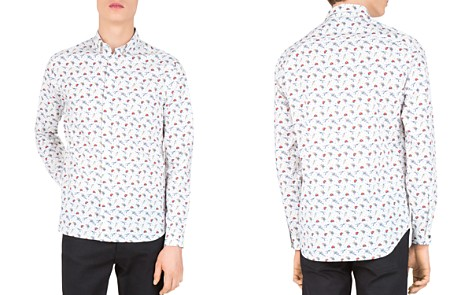 The Kooples Love Skulls Slim Fit Button-Down Shirt - Bloomingdale's_2