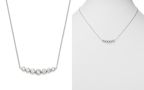 Bloomingdale's Diamond Bezel Arc Pendant Necklace in 14K White Gold, 0.50 ct. t.w. - 100% Exclusive _2