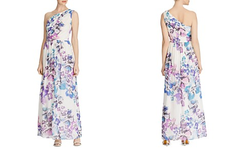 Lauren Ralph Lauren One-Shoulder Floral Georgette Gown - Bloomingdale's_2