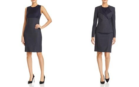 BOSS Dibena Color Block Sheath Dress - Bloomingdale's_2
