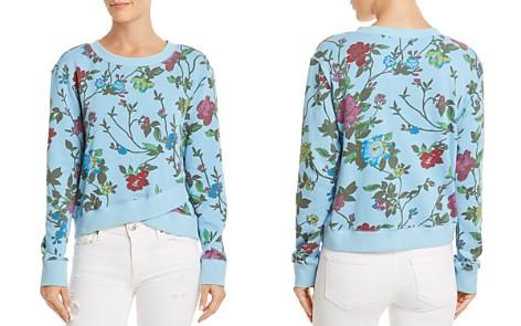 PAM & GELA Floral Print Crossover Sweatshirt - Bloomingdale's_2