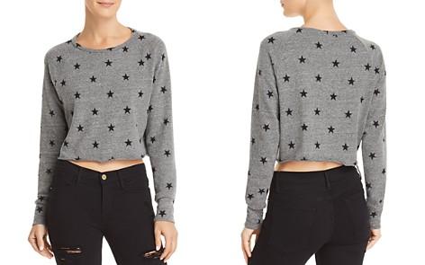 LNA Brushed Cropped Star Print Sweatshirt - Bloomingdale's_2