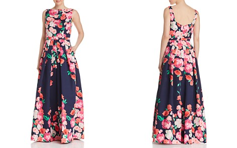 Eliza J Floral Belted Ball Gown - Bloomingdale's_2