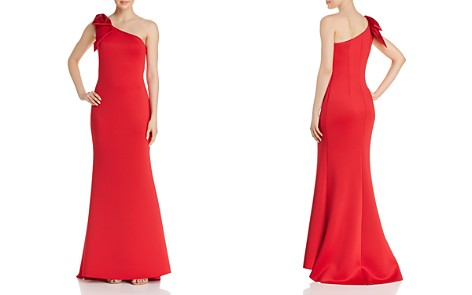 AQUA One-Shoulder Scuba Crepe Gown - 100% Exclusive - Bloomingdale's_2