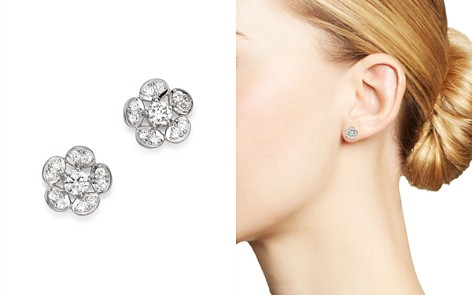 Bloomingdale's Diamond Flower Stud Earrings in 14K White Gold, 0.35 ct. t.w. - 100% Exclusive _2