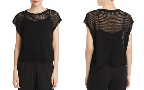 Eileen Fisher Open-Knit Cropped Top - Bloomingdale's_2
