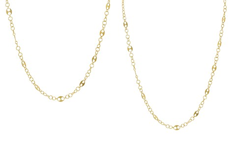 """Argento Vivo Oval Cutout Link Chain Necklace, 16"""" - Bloomingdale's_2"""