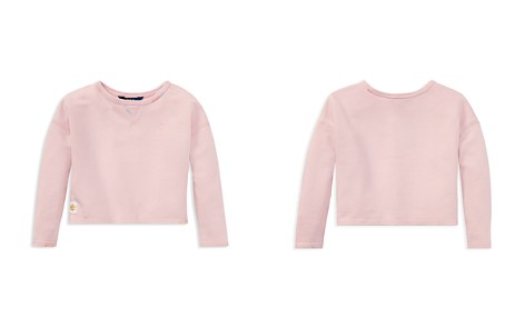 Polo Ralph Lauren Girls' French Terry Sweatshirt - Little Kid - Bloomingdale's_2