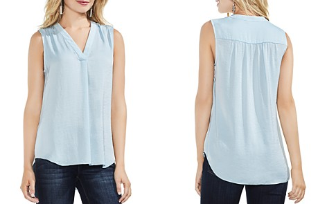 VINCE CAMUTO Textured V-Neck Top - Bloomingdale's_2