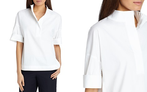 Lafayette 148 New York Silvia Stand-Collar Blouse - Bloomingdale's_2