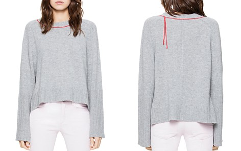 Zadig & Voltaire Lea Ribbed Cashmere Sweater - Bloomingdale's_2