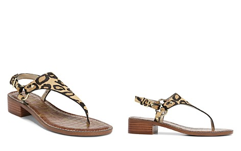 Sam Edelman Women's Jude Leopard Print Calf Hair Thong Sandals - Bloomingdale's_2