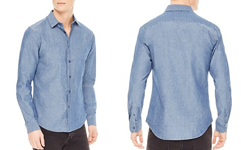 Sandro Chambray Slim Fit Button-Down Shirt - Bloomingdale's_2