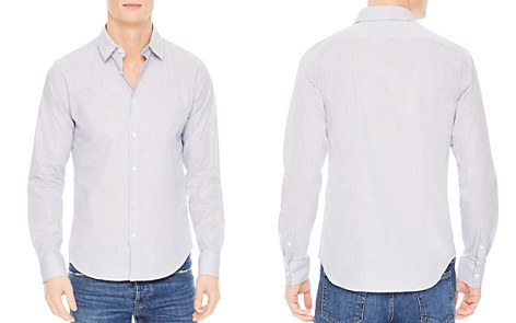Sandro Classic Micro Check Slim Fit Button-Down Shirt - Bloomingdale's_2