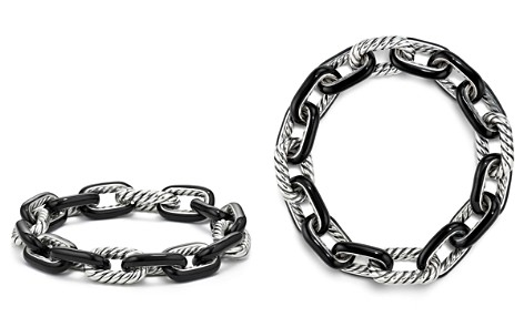 David Yurman Madison Chain Enamel Large Bracelet in Black - Bloomingdale's_2