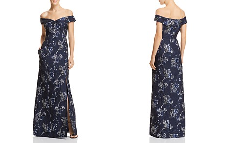 Aidan Mattox Off-the-Shoulder Floral Gown - Bloomingdale's_2