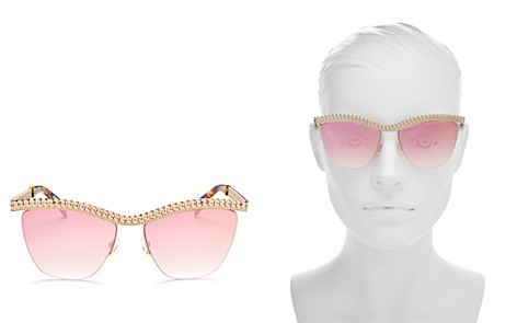 Moschino Women's 010 Square Sunglasses, 57mm - Bloomingdale's_2