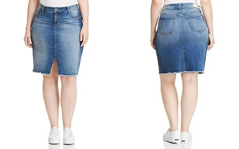 SLINK Jeans Plus Shadow Mix Denim Pencil Skirt in Gwen - Bloomingdale's_2