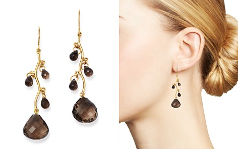 Bloomingdale's Smoky Quartz Chandelier Earrings in 14K Yellow Gold - 100% Exclusive _2