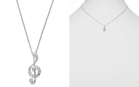 Bloomingdale's Diamond Music Note Pendant Necklace in 14K White Gold, 0.075 ct. t.w. - 100% Exclusive _2