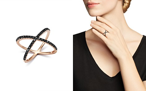 Bloomingdale's Black Diamond Crossover Ring in 14K Rose Gold, 0.40 ct. t.w. - 100% Exclusive _2