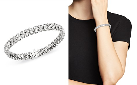 Bloomingdale's Diamond Woven Link Tennis Bracelet in 14K White Gold, 7.0 ct. t.w. - 100% Exclusive _2