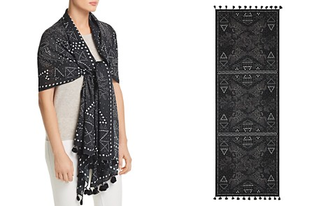 Rebecca Minkoff Studded Floral Oblong Scarf - Bloomingdale's_2