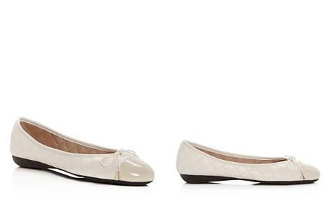 Paul Mayer Women's Best Quilted Leather Cap Toe Ballet Flats - Bloomingdale's_2