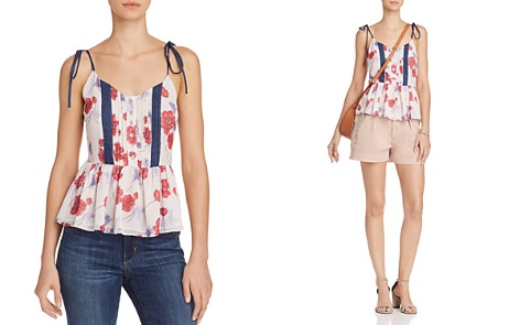 Endless Rose Floral Print Peplum Camisole - Bloomingdale's_2