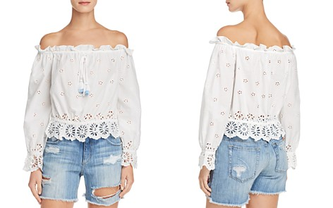 Rebecca Minkoff Anthea Off-the-Shoulder Eyelet Top - Bloomingdale's_2