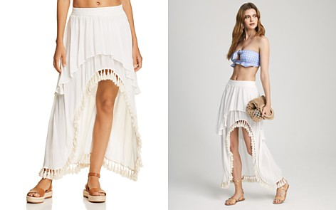 Surf Gypsy Tassel High/Low Skirt Swim Cover-Up - Bloomingdale's_2