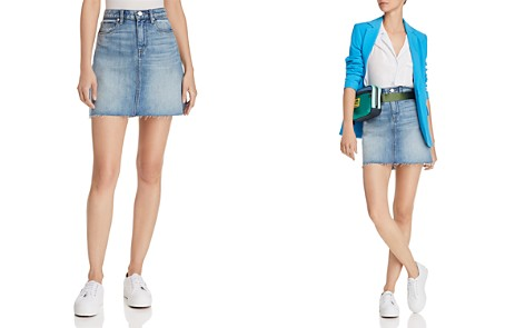 BLANKNYC Raw-Edge Denim Skirt - Bloomingdale's_2