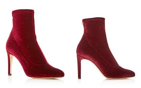 Giuseppe Zanotti Women's Stretch Glitter Velvet Pointed Toe Booties - Bloomingdale's_2
